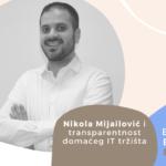 Employer Branding Espresso – Nikola Mijailović i transparentnost domaćeg IT tržišta